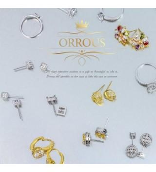 Yellow Plated Simulated Zirconia Earrings in Women's Stud Earrings