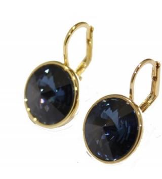 Swarovski Elements Earrings Leverback Closure in Women's Drop & Dangle Earrings
