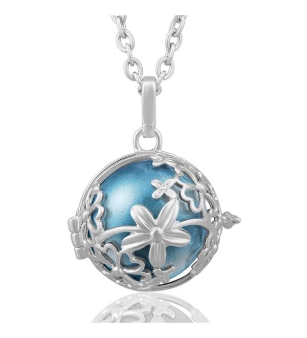 Harmony Necklace Pendant Pregnant Cornflower - Cornflower Blue - C912D6OKGCF