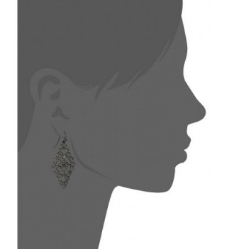 1928 Jewelry Black Tone Filigree Earrings