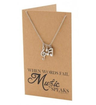 Quan Jewelry Necklace Treble Lovers in Women's Pendants