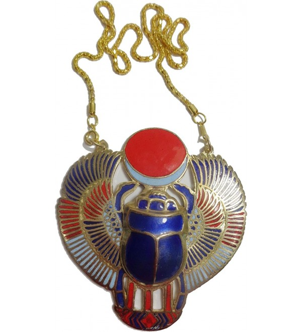 Scarab Beetle Necklace Pendanat Jewelry Xl Enameled Egyptian 102 - C111S4529DV