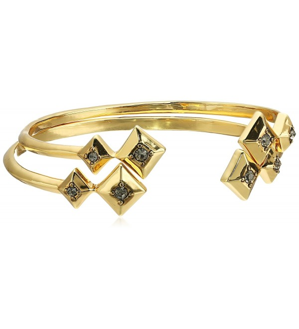 House of Harlow 1960 The Lyra Set Gold Cuff Bracelet - CO12J2015QD