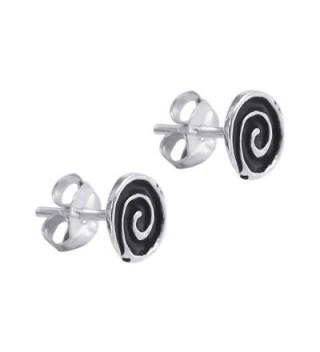 Hypnotic Swirls Enamel Sterling Earrings