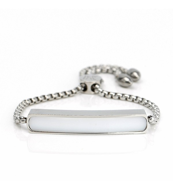 Stylish Designer Bracelet Stunning Adjustable - Silver/White - CL18864Q229
