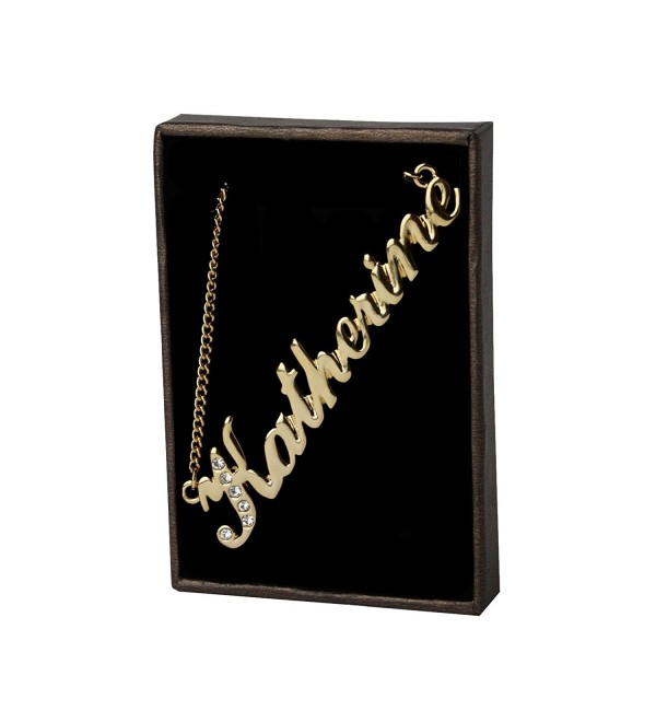 "Name Necklace ""Katherine"" 18K Gold Plated - CU11GV66WN3"