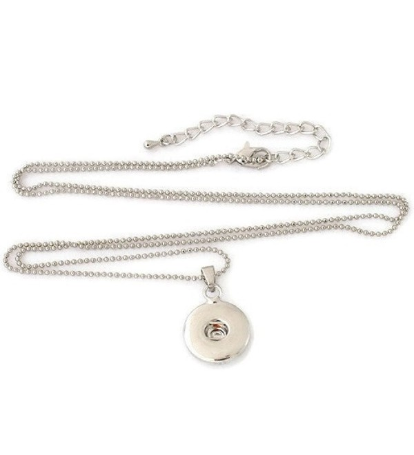 "Interchangeable 18-20 mm Snap Jewelry Pendant & Ball Chain Necklace 28"" + 3"" Ext. by My Gifts - C9182H2MK6W"