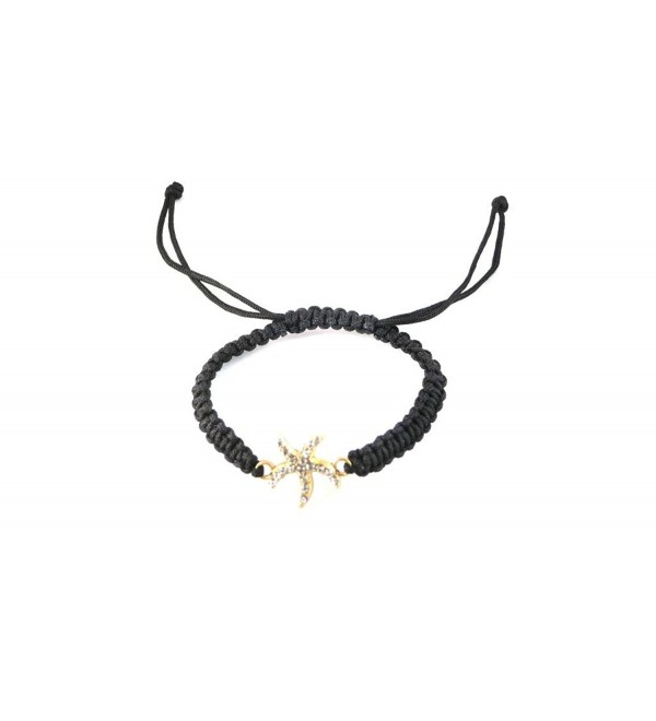 Fashion String Bracelet With Starfish And Rhinestones - CD11UFZXE73