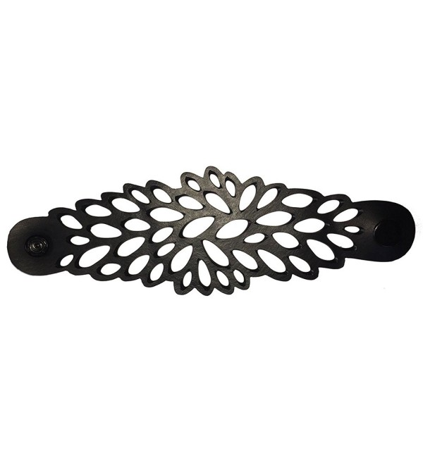 Black Swan Bali - Eco Hand Crafted Recycled Rubber Inner Tube / Innertube Petal Power Cuff - Bracelet - CE128DU4XRB