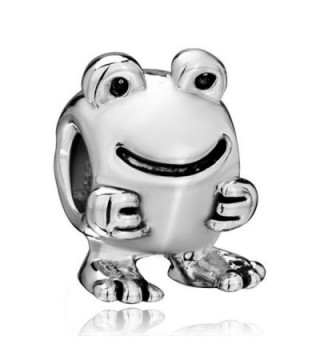 CharmsStory Happy Big Eyes Frog Animal Charms Beads Charms For Bracelets - C511R0WVLA5