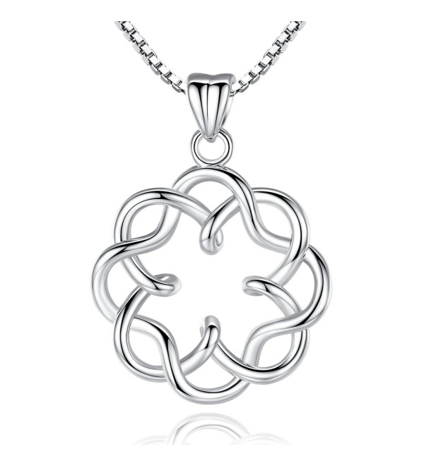 Platinum Plating Vintage Infinity Necklace - Celtic Knot - CU187Q5MRHH