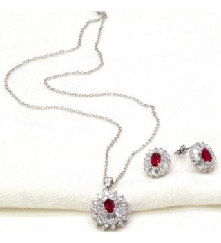 Luxury Jewelry Necklace Earrings Zirconia