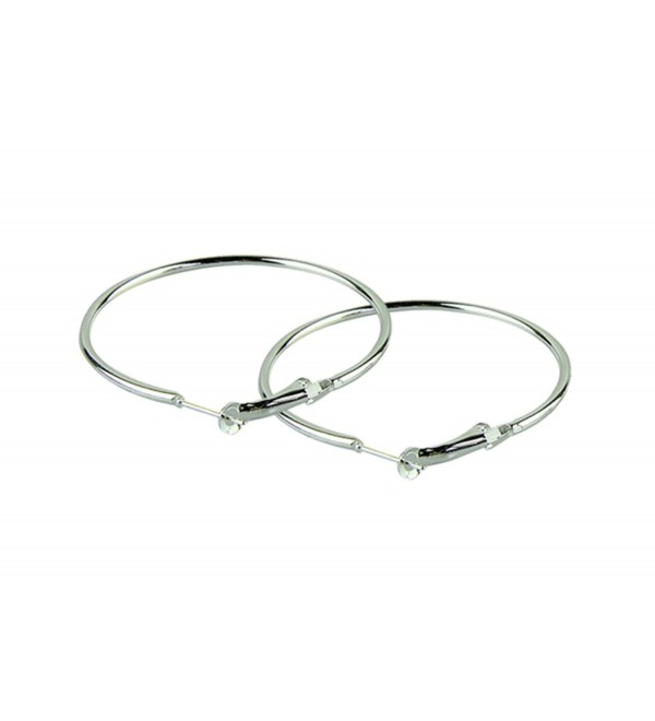 Fashion Large (2-inch / 50-mm) Hoop Earring Pair (SILVER) - C211SU1LECB