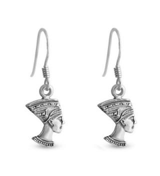 Azaggi Sterling SIlver Handcrafted Hook Earrings Nefertiti - CB12EV99OK9