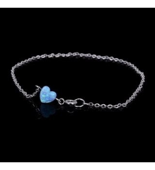 Heart shaped Anklet Semi precious Birthstone Jewelry