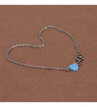 Heart shaped Anklet Semi precious Birthstone Jewelry in Women's Anklets