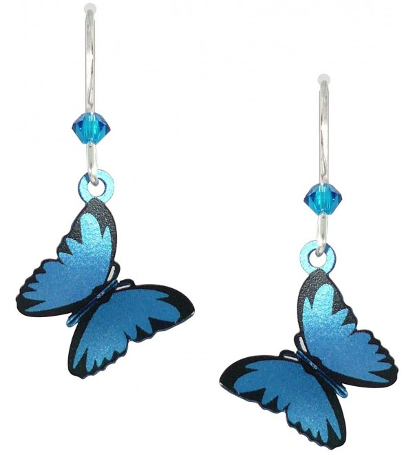 Sienna Sky 3-D Blue Morpho Butterfly Earrings 1665 - C411HCEFDSX