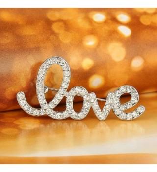 EVER FAITH Austrian Romantic Silver Tone in Women's Brooches & Pins