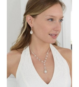 Mariell Sparkling Rhinestone Necklace Bridesmaid