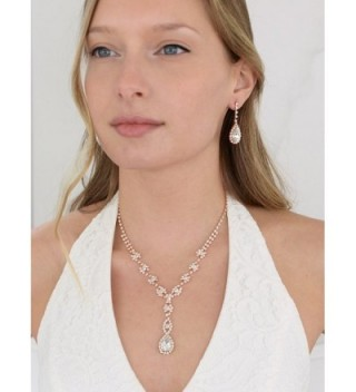 Mariell Sparkling Rhinestone Necklace Bridesmaid in Women's Jewelry Sets