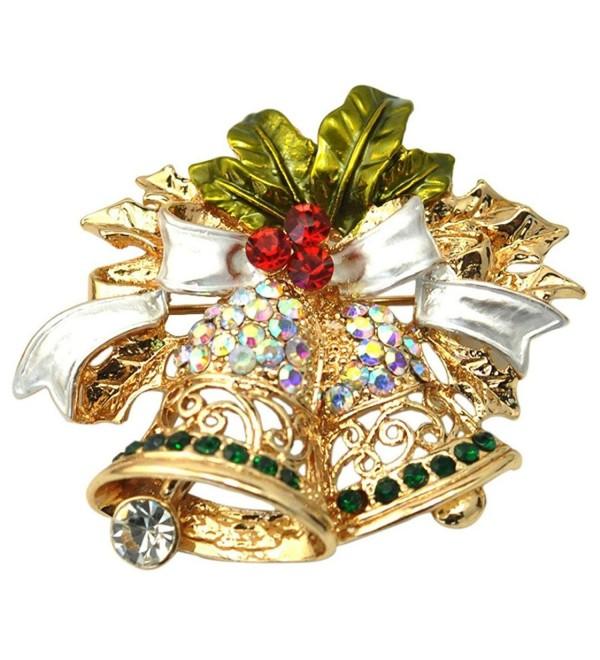 BESSKY Christmas Cute Brooch Pins Crystal Rhinestone Christmas Gift (2) - C61296UZ015