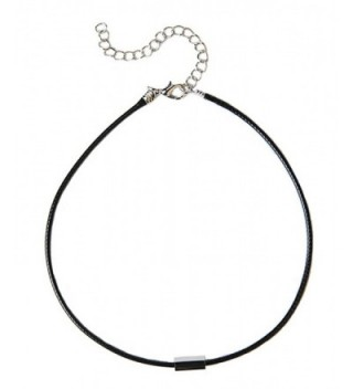 TomSunlight Black Leather Cord Handmade Choker Jewelry for Women 16'' - CE12H0ZF6XP