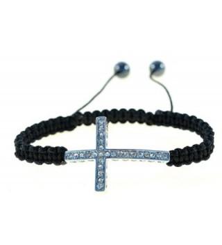 Handmade Sideways String Macrame Bracelet