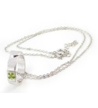 Necklace Genuine Four leaf Shamrock Crystal