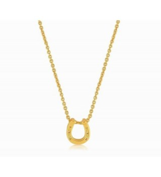 Horseshoe Necklace Pendant Gold Plated
