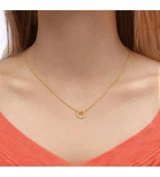 Horseshoe Necklace Pendant Gold Plated in Women's Pendants
