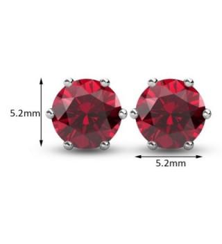 R timer Earrings Swarovski Elements Birthstone in Women's Stud Earrings