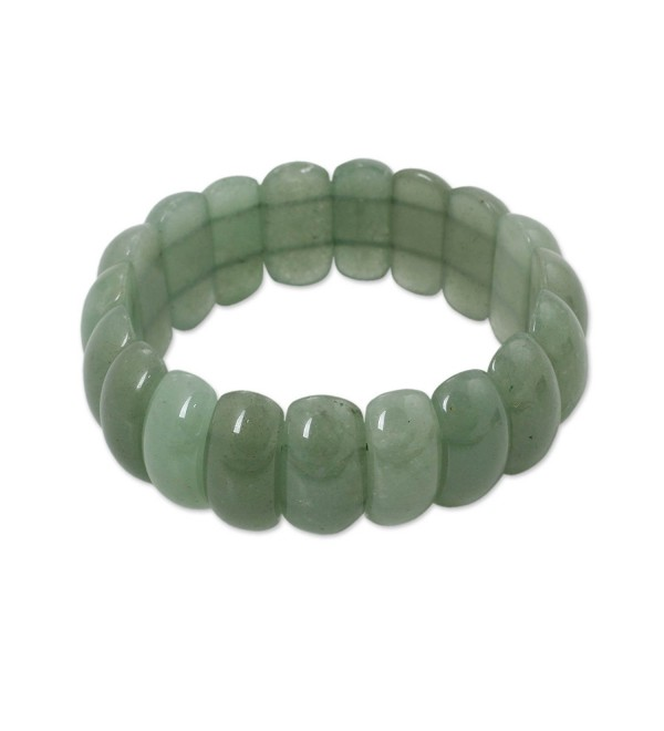 "NOVICA Aventurine Beaded Bracelet- 7"" 'Naturally Simple' - CB12DUHTG2T"