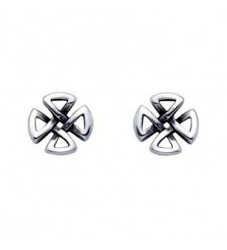 Small Stainless Steel Celtic Cross Stud Earrings - CR119E42DZZ