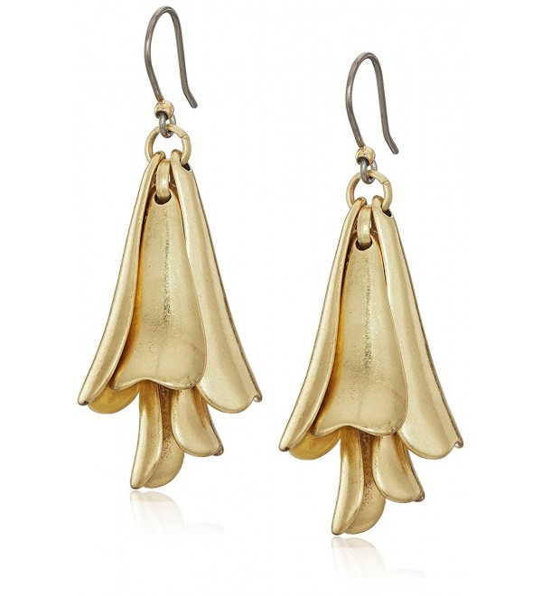 Lucky Brand Women's Petal Gold Drop Earrings - CO1880U8WMG