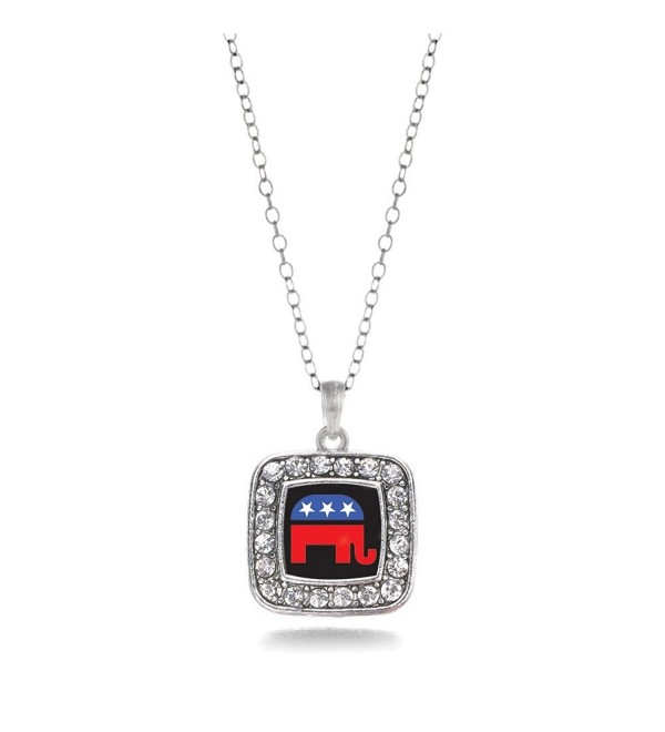 Inspired Silver Pro GOP Republican Party Elephant Charm Necklace - CQ11V7TX679