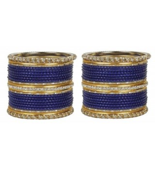 MUCHMORE Outstanding Traditional Fashion Navy Blue Bangle Indian Party wear Jewelry - CQ12MBLLEX9