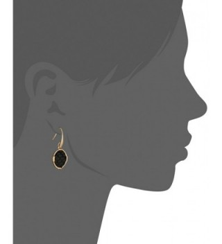 Inlay Circle Black Gold Earrings