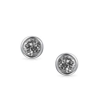 Bling Jewelry Quartz earrings Rhodium