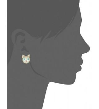 Betsey Johnson Pearl Face Earrings