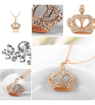 YEAHJOY Princess Necklace Platinum Austrain