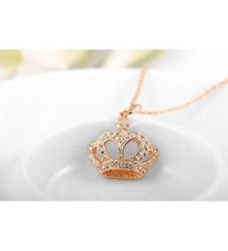 YEAHJOY Princess Necklace Platinum Austrain in Women's Pendants