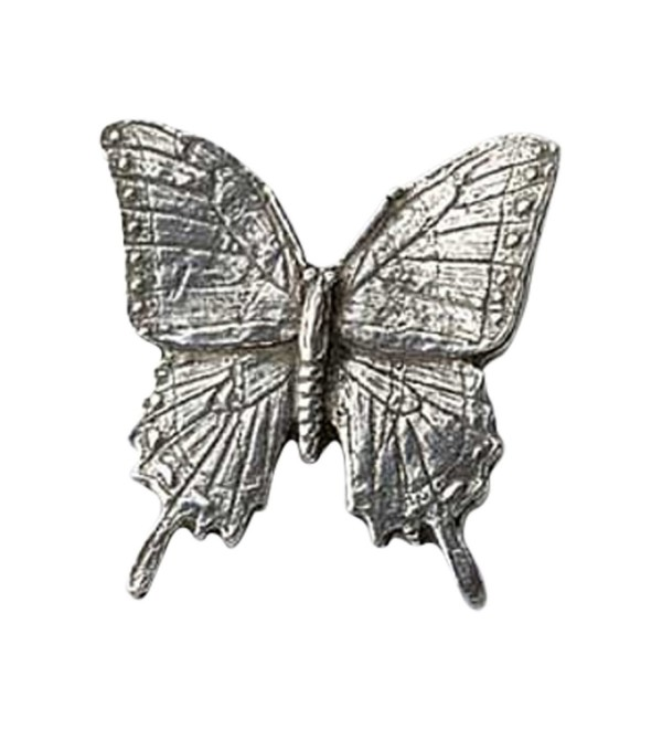 Creative Pewter Designs- Pewter Tiger Swallowtail Butterfly Lapel Pin Brooch- Antiqued Finish- A042 - CT122XI8AZT