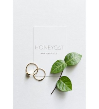 HONEYCAT Crystals Sterling Minimalist Delicate in Women's Stacking Rings