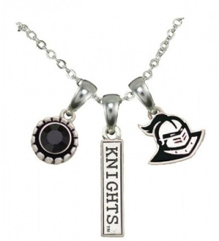 Central Florida Knights 3 Charm Black Crystal Silver Necklace Jewelry UCF - CG12CEXCFT1