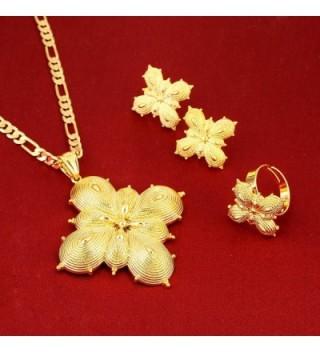 Gold Classic Pendant Earring Jewelry in Women's Jewelry Sets