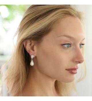 Mariell Earrings Pear Shaped Wedding Fashion in Women's Clip-Ons Earrings