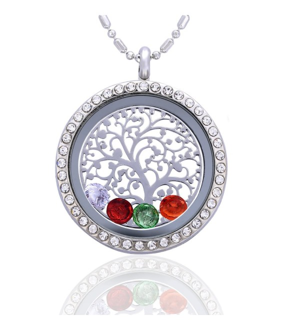 Family Tree Birthstone Necklace Jewelry - Tree of Life - CP12C6W8SXR