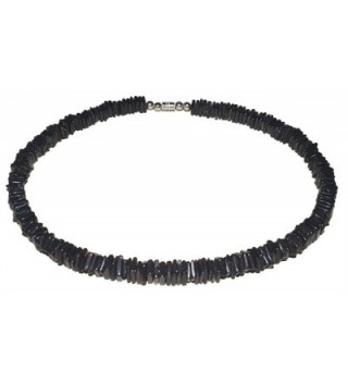 """Native Treasure - High Quality 16"""" Dark Chips Puka Shell Necklace Jewelry - CH11C07JF81"""