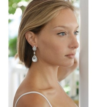 Mariell Teardrop Chandelier Earrings Bridesmaids