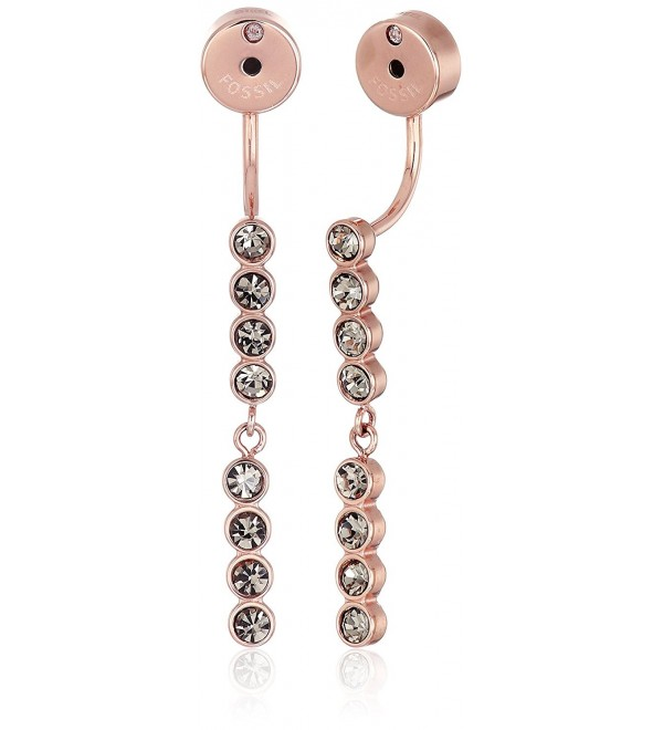 Fossil Dot Crystal Earrings Jackets - C712MSNCF3N